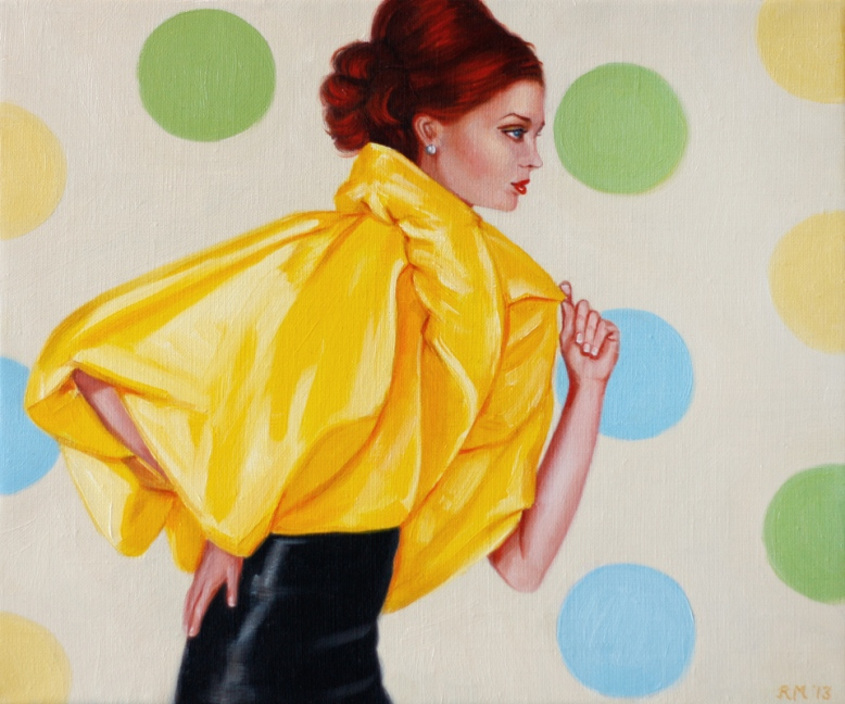"""Mrs Watson likes to Vogue"" oil on canvas 10' x 12' by Rose Miller www.wolfgangandrose.com"