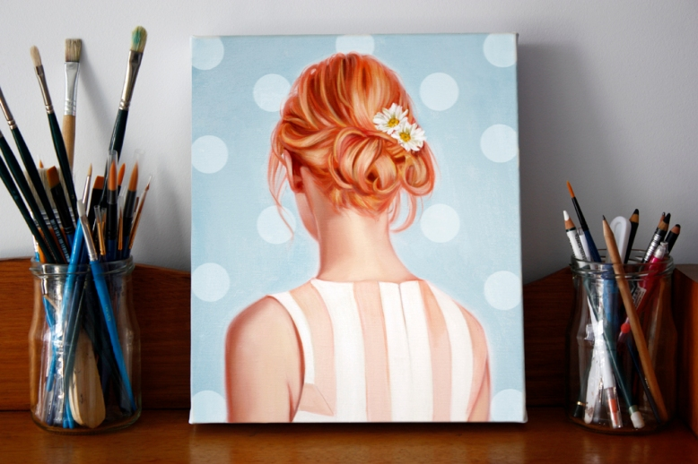 Strawberry Blonde by Rose Miller, oil on canvas 10