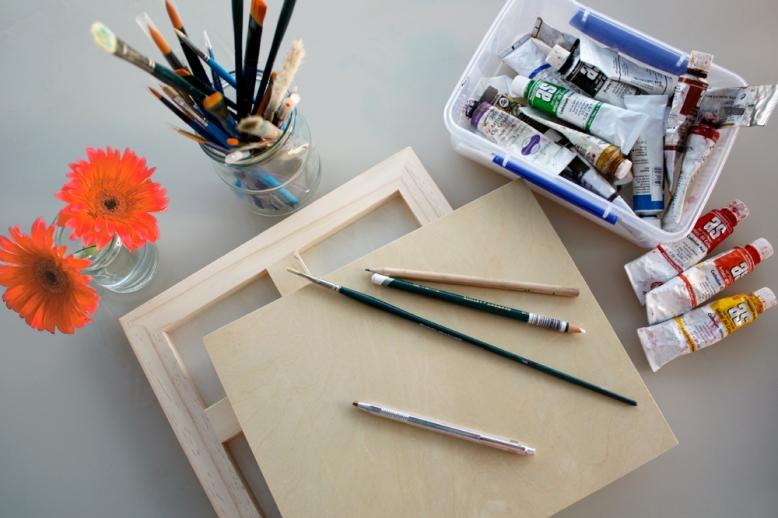 Wood painting panels www.wolfgangandrose.com