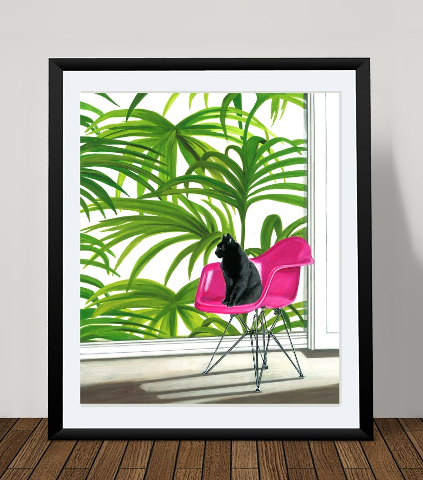 pink safari framed by Wolfgang & Rose